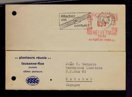 Suisse Attachez Vos Ceintures 1971slogan Pmk Sécurité Routière Health Santé  Sp6010 - Unfälle Und Verkehrssicherheit