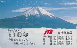 Télécarte Japon / 110-126 - Montagne - MONT FUJI ** JTB ** - Mountain Japan Phonecard -  MD 256 - Japon