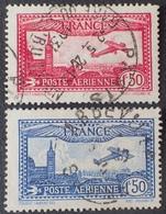 DF40266/553 - 1930 - POSTE AERIENNE - N°5 à 6 ☉ - Airmail