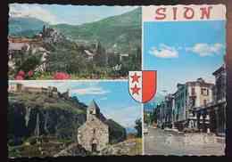 SION - Valais - Multiview, Chateau De Valere, Rue Du Grand Pont, Chapelle De Tous Les Saints Et Tourbillon  Vg - VS Valais