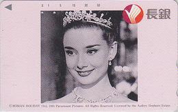 Télécarte Japon / 110-171904 - Film Cinéma - AUDREY HEPBURN - ROMAN HOLIDAY - Japan Movie Phonecard Italy - 11508 - Cinéma