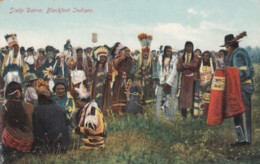 Native American Indians Blackfoot Tribe Scalp Dance Ceremony, C1900s Vintage Postcard - Native Americans