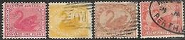 Western Australia   1902   Sc#70, 76-7, 83  1p, 2p, 4p, 10p  Used      Watermark 70   2016 Scott Value $22.75 - Gebraucht