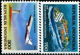 ID0553 Indonesia 1996 Aircraft Ship 2V - Indonesië