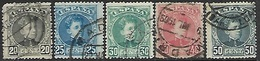 Spain  1901-5   Sc#278-80, 282-3   5 Diff Used To The 50c  2016 Scott Value $8.55 - 1889-1931 Regno: Alfonso XIII