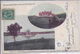 CAPE-BRETON- BADDECK- AND RESIDENCE OF GRAHAM BELL- THE ELECTRICIAN - Cape Breton