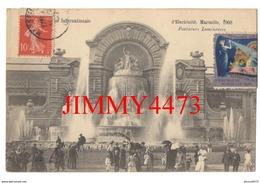 CPA - Exposition D'Electricité 1908 - Fontaines Lumineuses - MARSEILLE 13 Bouches Du Rhône - Photo Baudouin Vincent - Internationale Tentoonstelling Voor Elektriciteit En Andere