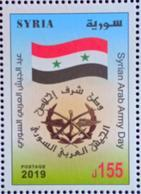 Syria 2019 NEW MNH Stamp - Army Day - Flag - Syrien