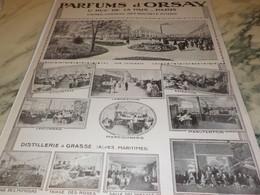 ANCIENNE PUBLICITE CHATEAU DES BOUVETS LES PARFUMS D ORSAY 1913 - Perfume & Beauty