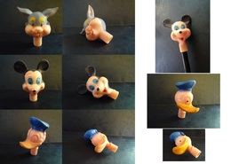 Têtes Porte-crayon DISNEY : Mickey, Donald, Etc. + Pipe Donald - Disney