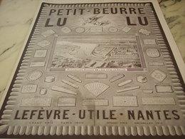 ANCIENNE PUBLICITE BISCUIT PETIT BEURRE  LEFEVRE UTILE LU  1913 - Affiches
