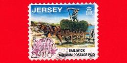 JERSEY - Usato - 1998 - Lavori Tradizionali - Agricoltura - Carretto - Datato 1999 - Jersey