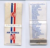 Pochette D'allumettes AIR FRANCE (vide) / Vintage - Zündholzschachteln