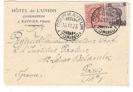20731 - De COURMAYEUR Pour La France - 1900-44 Vittorio Emanuele III
