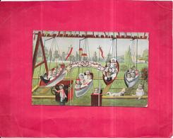 CPA COLORISEE FANTAISIE  -  Enfants Et Bébés Dans Des Balançoires En Forme De Barques  - ROY2 - - Bébés