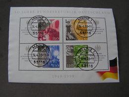 BRD 1999 Bl.49 Mit Tagesstempel Mainz - BRD