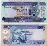 SOLOMON IS.         5 Dollars       P-26       ND (2008)       UNC  [ Sign. 9 ] - Isla Salomon