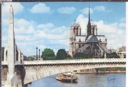 AK-36700-20  Paris - Le Pont De La Tournelle Et La Statue De La Genevieve A Droite Cathedrale Notre Dame - Autres