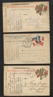 Lot De 12 Cartes Franchise Militaire à étudier / Guerre Miitaria WW1 - Marcofilie (Brieven)