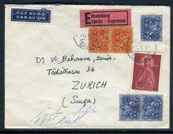 Portugal - Enveloppe En Exprès Pour La Suisse En 1958  - Réf AT 186 - 1910-... Republic