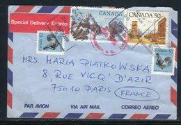 Canada - Enveloppe En Exprès De Vancouver Pour La France En 1985  - Réf AT 188 - Cartas
