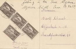 Portugal: 1923 Ansichtskarte Lagos Nach Offenbach - Portugal