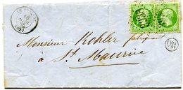 VOSGES De FRESSE LSC Du 16/04/1866 Dateur T 15 De LE THILLOT+ N°20 X 2 Oblitérés GC 3938+cachet OR - Storia Postale