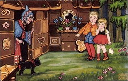 Artiste Cp Boriss, Margret, Hänsel Und Gretel, Hexe, Amag 0416 - Illustrators & Photographers
