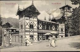 Cp Băile Tușnad Bad Tuschnad Rumänien, Fachwerkhaus, Rezsö Fürdö - Roemenië
