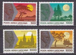 VATICAN CITY 1990 Pope Johan Paul II Travelling Around The World Complete MNH Set Mi. 1014 / 1017 - Ongebruikt