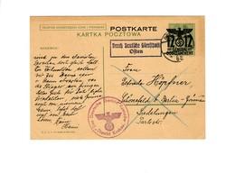Ganzsache GG P 6 II, 08: 30.11.44 Deutsches Gericht Reichshof/Krakau Nach Berlin - Besetzungen 1938-45