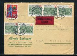 Allemagne - Enveloppe En Exprès De Wald- Michelbach Pour La France En 1970 - Réf AT 207 - [7] Federal Republic