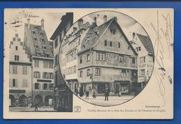 STRASBOURG    Vieilles Maisons De La Rue Des Arcades  Animées   écrite En 1904 - Strasbourg