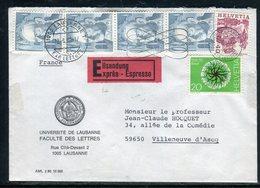 Suisse - Enveloppe En Exprès De Lausanne Pour La France En 1980 - Réf AT 212 - Postmark Collection