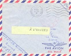 GUERRE D'ALGERIE OMec SECAP POSTE AUX ARMEES A.F.N. FLAMME DROITE M (BUREAU & BLOC DATEUR À L'ENVERS) 15-11-1959 - Storia Postale