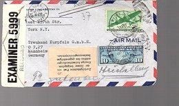 'Zurückgehalten Post Von Censur Freigegeben…' New York To Heiidelberg' FRONT ONLY  (958) - Etats-Unis