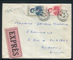 Maroc - Enveloppe En Exprès De Casablanca Pour La France En 1964 - Réf AT 221 - Maroc (1956-...)
