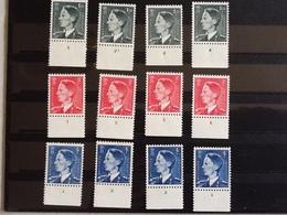 Nr.909/911* Koning Boudewijn Plaatnummers 1tot 4. - ....-1960