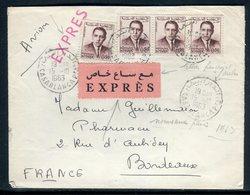 Maroc - Enveloppe En Exprès De Casablanca Pour La France En 1963 - Réf AT 226 - Maroc (1956-...)
