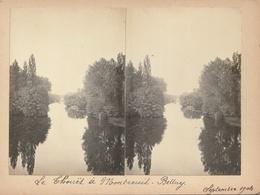 PHOTO  Stéréoscopique - Le Thouët à MONTREUIL-BELLAY - Stereoscopio