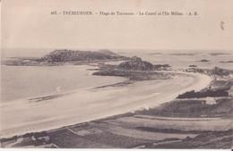 CPA - TREBEURDEN - 407. Plage De Tresmeur, Le Castel Et L'île Millau - Trébeurden