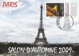 CARTE MAXIMUM TOUR EIFFEL - TIMBRE LUXEMBOURG - OBLIT. SALON PARIS 11/2009 - Cartes-Maximum