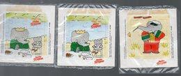 Lot De 3 Petits Puzzles BABAR (dont Un En Double) Offert Par VACHE GROSJEAN (PPP19603) - Publicités