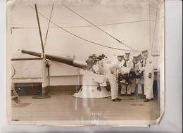 PRESIDENT SARMIENTO ARGENTINE NAVAL TRAINING SHIP NEW YORK 80TH STREET ARGENTINA 25*20CM Fonds Victor FORBIN 1864-1947 - Barcos