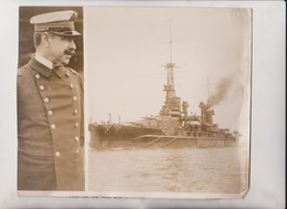 SUPERDREADNOUGHT MORENO OFFER OF GREECE TO  ARGENTINA CAMDEN SHIP YARDS NEW JERSEY 24*20CM Fonds Victor FORBIN 1864-1947 - Barcos