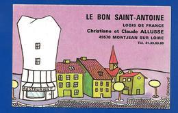 Carte De Restaurant LE BON St ANTOINE Montjean S Loire 49 - Cartes