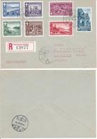 Campione D'Italia -1945-RACCOMANDATA CON SERIE CPL PAESAGGI. - 5. 1944-46 Lieutenance & Umberto II