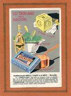 CPA - MARSEILLE (13) - Pub: Les Trois Amis De La Maison: Savon La Tour, Huile Dulcine Et Végétaline - 1920 - Advertising
