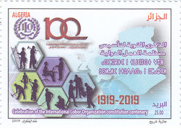 Algeria New Issue 2019, 100th Year ILO WITHDRAWN From Sale,error In Printing Scarce MNH Cpl. SKRILL PAY ONLY - Algeria (1962-...)