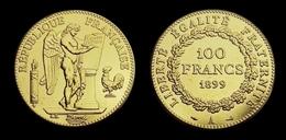 COPIE - 1 Pièce Plaquée OR ( GOLD Plated Coin ) - France - 100 Francs Génie 1899 A - O. 100 Francs